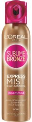Loreal Paris Sublime Bronze Self-Tanning Dry Spray Body